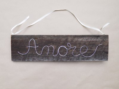 Make a simple ribbon hanger.