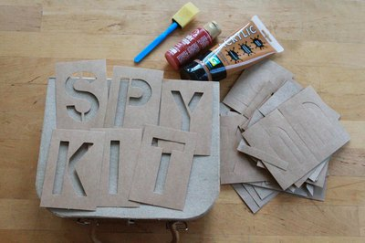 Letter stencils are available at craft stores.