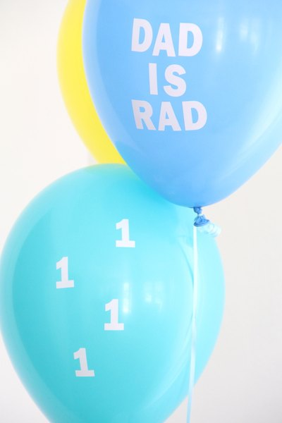These balloons will add an extra special element to dad's day.