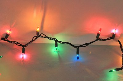 How to hang christmas lights from the ceiling ehow things youll need adhesive hook ladder christmas lights mozeypictures Gallery