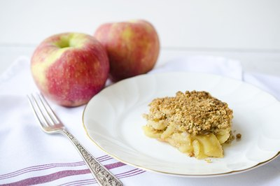 Apple crisp is easier to make than apple pie but just as tasty.