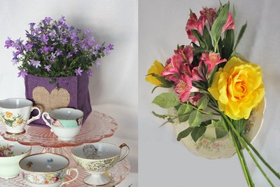 Select flowers based on size, color and texture.