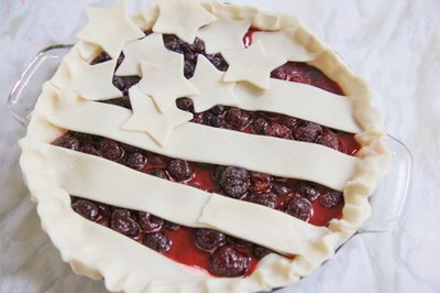 Arrange on top of pie.