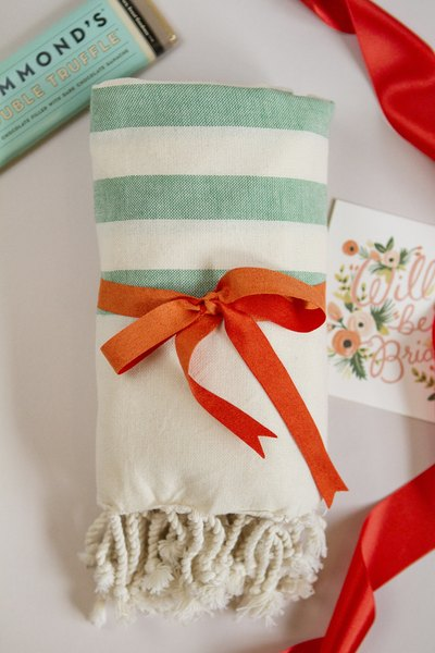 A green turkish towel is the perfect complement to a summer theme.