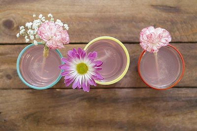 Dress up your cocktails with floral drink stirrers.