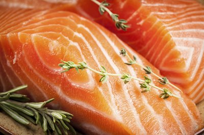Raw salmon with herbs