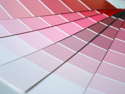 Pink paint swatches.