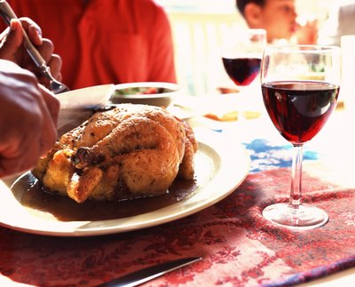 Chicken and some wine is kosher.