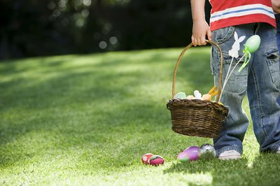 Egg hunts are a typical activity for children during Easter.