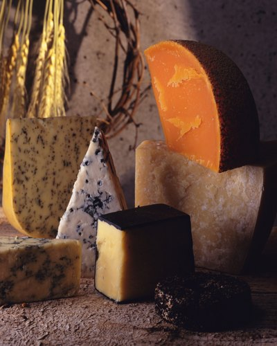 Aged cheeses come in many varieties.