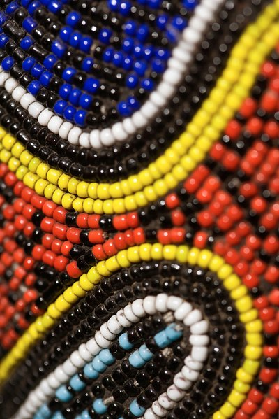 African beads have been exchanged for food and livestock.