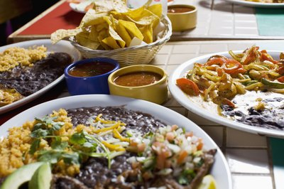 Variety of Mexican dishes