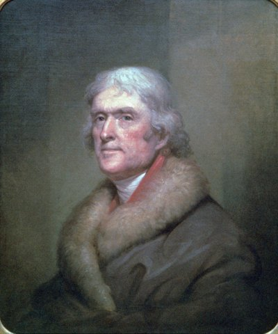 A painting of Thomas Jefferson