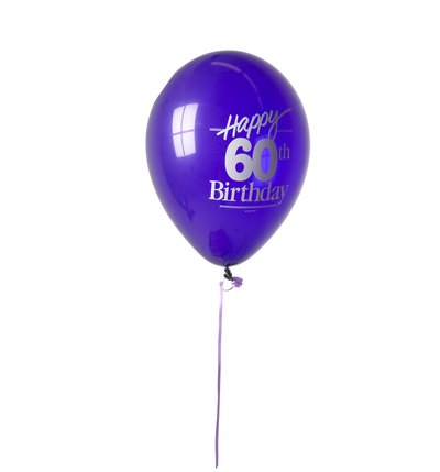 60th Birthday balloon.