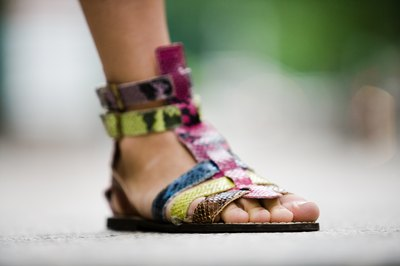 Colorful woman's sandal