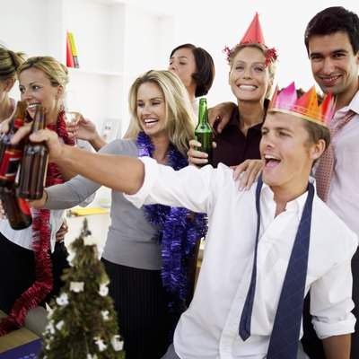 Get your Christmas party going with funny party games.