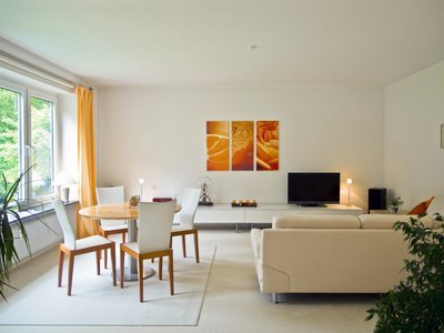 Neutral colors are a favorite choice for many condo owners.
