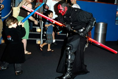 "Fight ""the Force"" as Darth Maul at your next costume party."