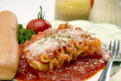 Lasagna with parmesan cheese.