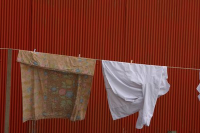 laundry on close line