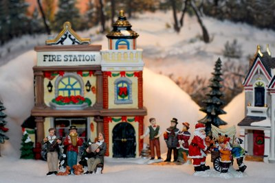 Miniature Christmas Village.