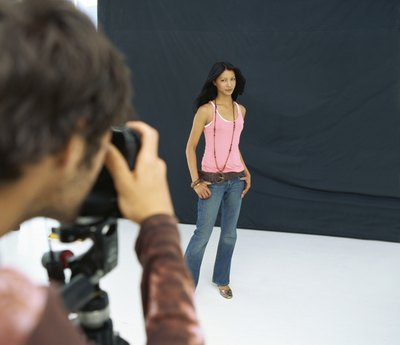 Woman poses during a photo session