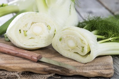 Fennel cut in half.