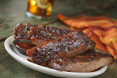 serve barbecued foods such as ribs if the home has a backyard