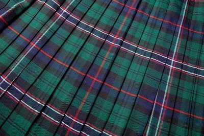 Close up of a kilt.