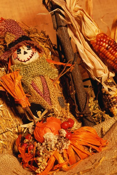 If you're lacking space, have a mini scarecrow building competition.