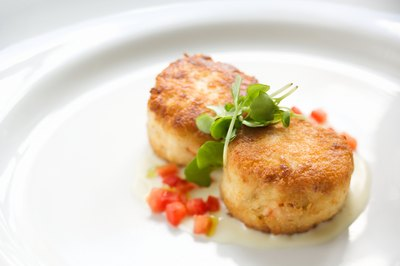 Several side dishes go with crab cakes.