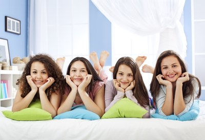 Many young girls will love a spa sleepover party.