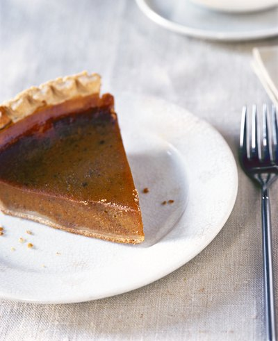 Serve persimmon pie with whip cream.
