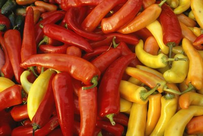 hot peppers vary in shape and color