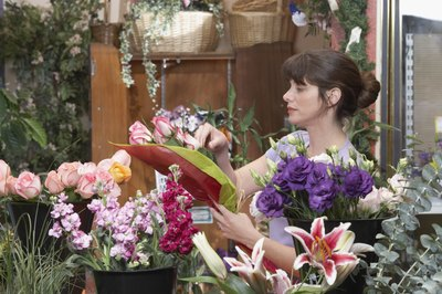 Call or visit local florists the week of the performance.