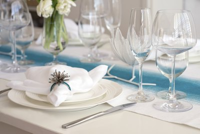 Table setting at country club