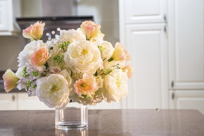 Flower bouquet in kitchen