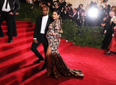 Kim Kardashian and Kayne West on the red carpet