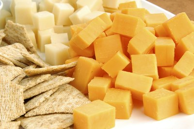 serve a variety of finger foods including cheeses