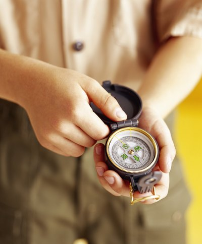Boy with compass