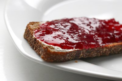 Red jelly on toast