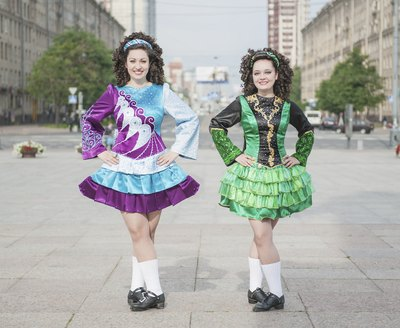 Irish step dancers.