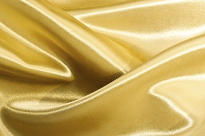 Gold coloured silk cloth.