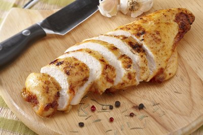 Sliced chicken breast.