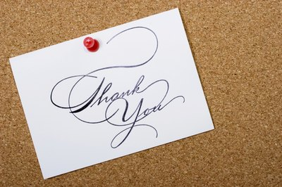 A simple thank you card