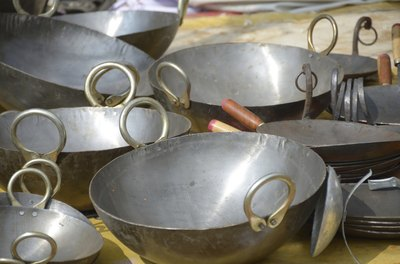 Stainless Steel Woks