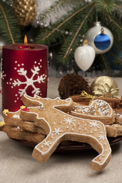 serve your guests frosted reindeer cookies
