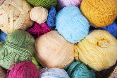 An assortment of colourful yarns.