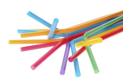 Colorful light up straws.