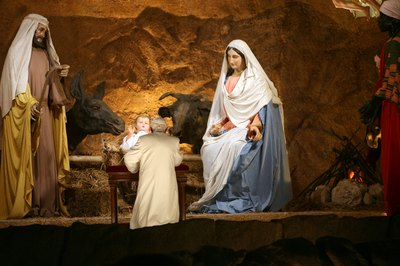 Virgin Mary in nativity scene